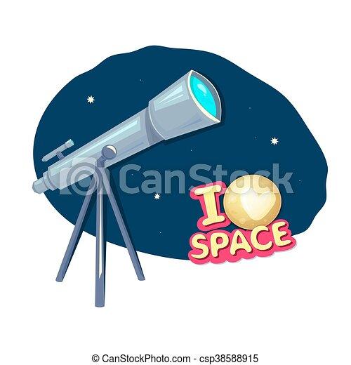 I love space, vector illustration - csp38588915