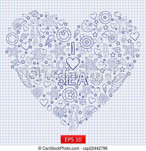I love the sea, - csp22442796