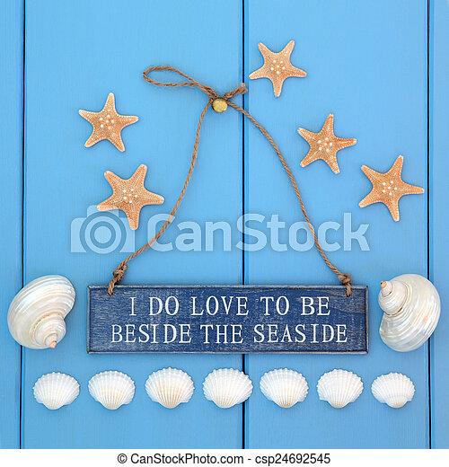 I Love the Seaside - csp24692545