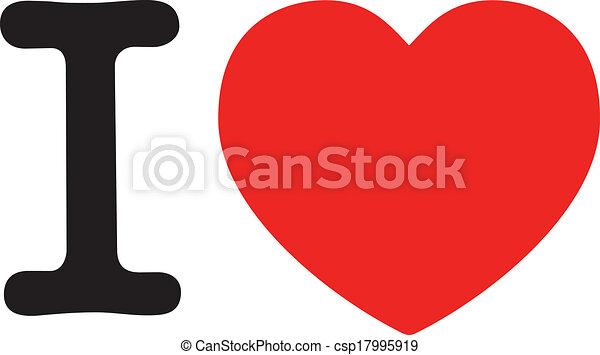 "i love, big red heart symbol for ""love"", i love ny style vector clip"