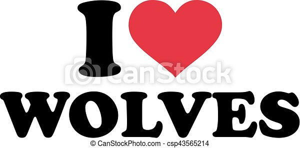 I love wolves - csp43565214