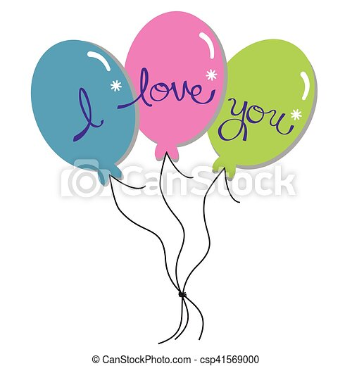 I Love You Balloons - csp41569000