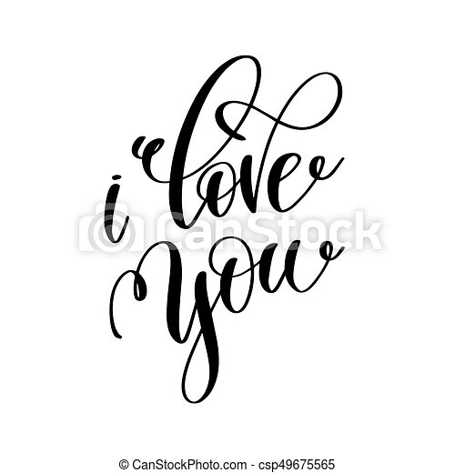 i love you black and white hand lettering inscription to clip art rh canstockphoto com Scribble Clip Art Pharmacy Clip Art