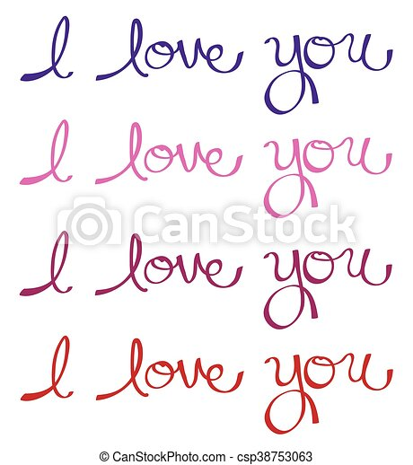 I Love You - csp38753063