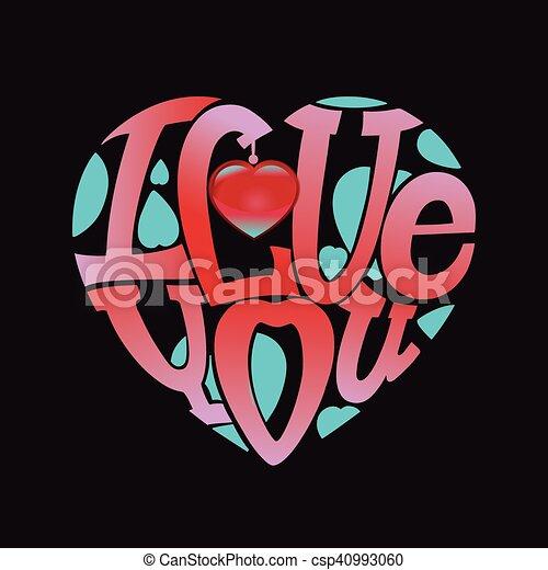 I love you - csp40993060