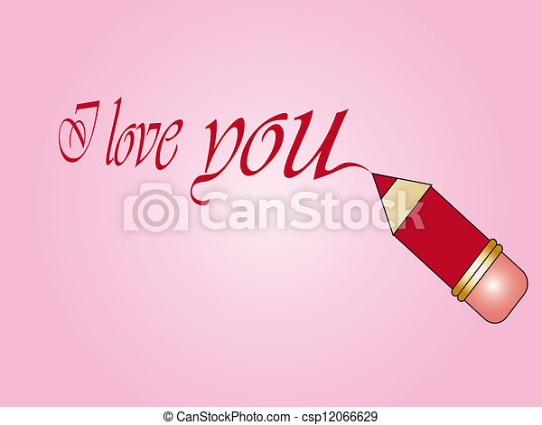 i love you - csp12066629
