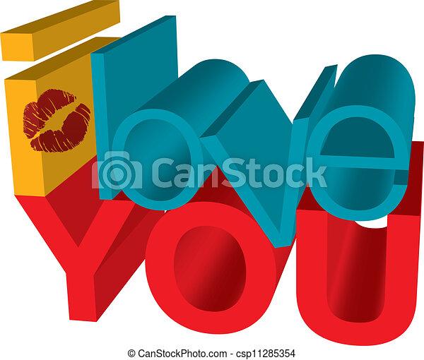 i love you - csp11285354