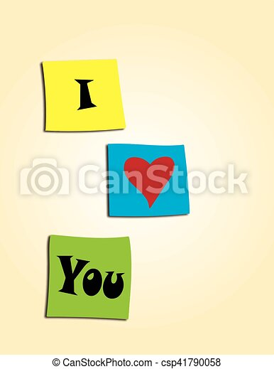 I love you - csp41790058