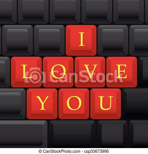 I love you - csp33673995