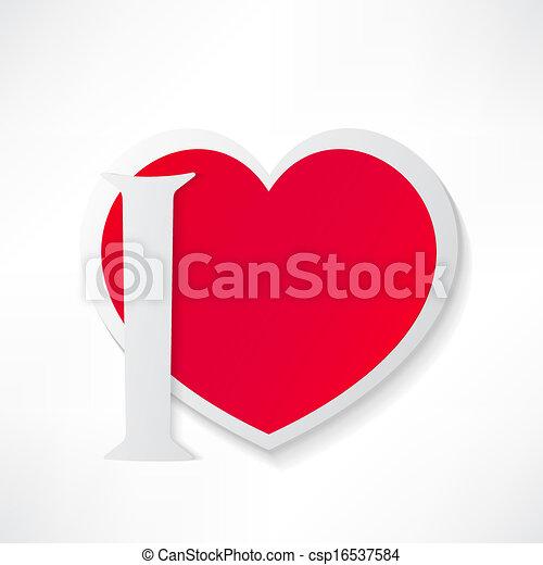 I love you - csp16537584