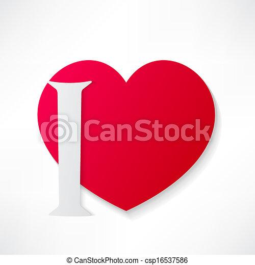 I love you - csp16537586