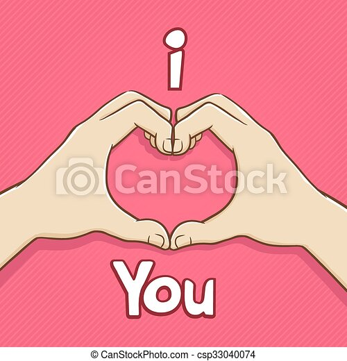 I Love You Hand Symbol Hand Forming Heart Shape Expressing Love