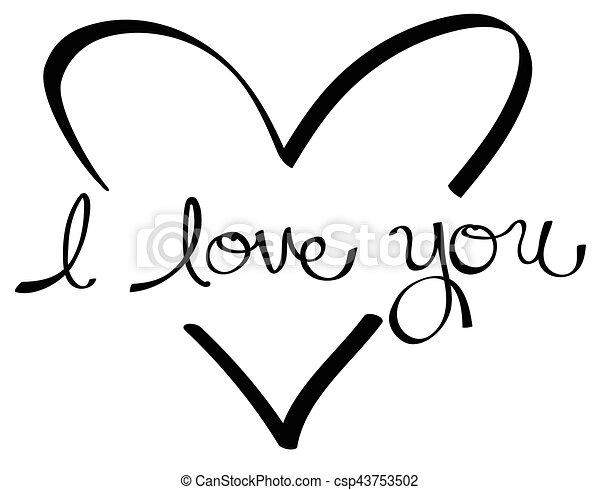I Love You Heart - csp43753502