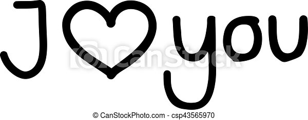 I love you - outlined - csp43565970