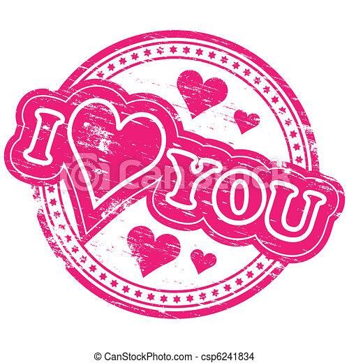 I love you text symbols
