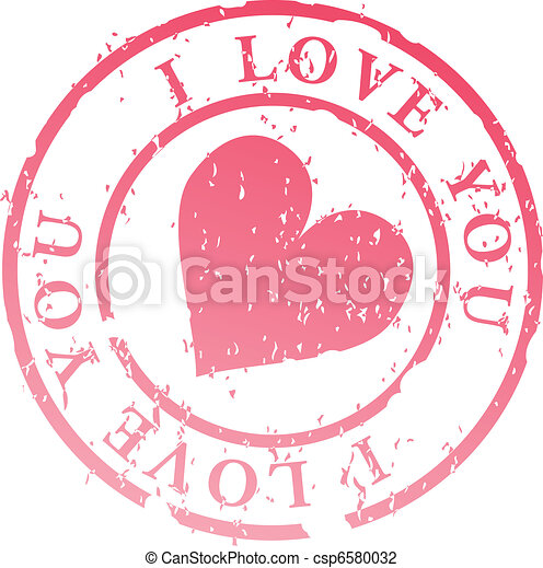 I love you stamp  - csp6580032