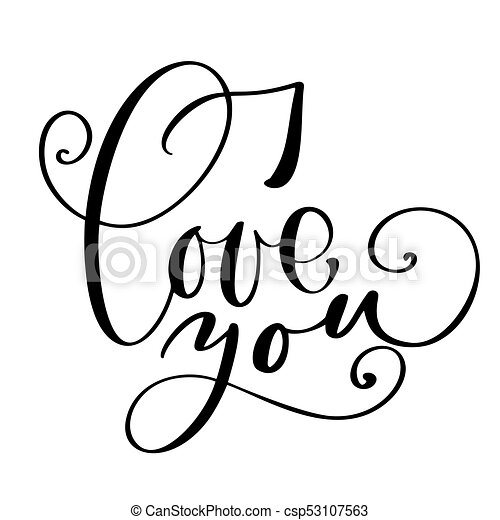 i love you text postcard phrase for valentines day ink clip art rh canstockphoto com postcard template clipart postcard template clipart