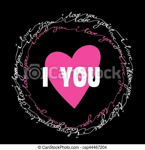 I love you valentine greeting card i love you greeting card with i love you valentine greeting card csp44467204 m4hsunfo