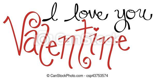 I Love You Valentine - csp43753574