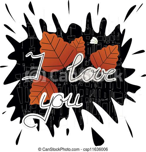 I love you - csp11636006