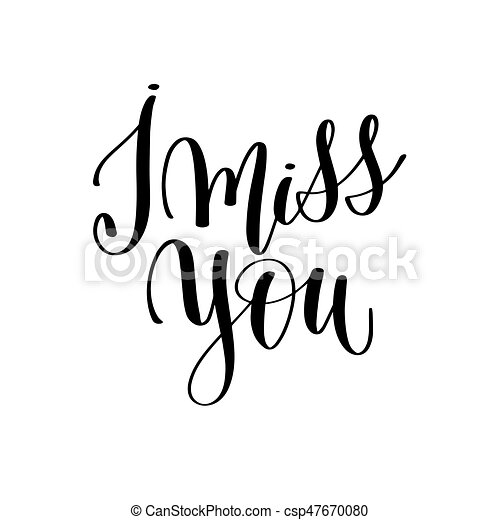 i miss you black and white hand lettering inscription vector rh canstockphoto com i'm going to miss you clip art i miss you animated clip art