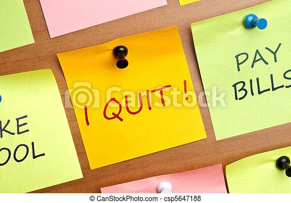 I quit post it - csp5647188