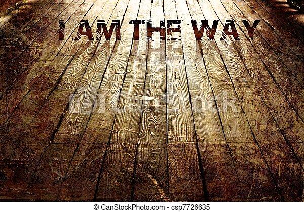 """""""i, religieux, way"""", fond - csp7726635"""