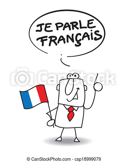 i speak french this businessman speak french rh canstockphoto com french clipart black and white french clipart