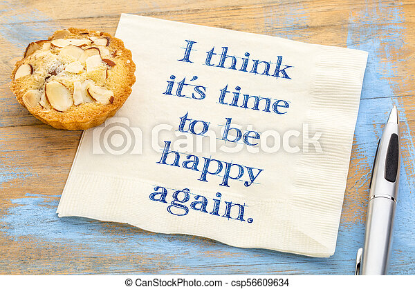 I think it is time to be happy again - csp56609634