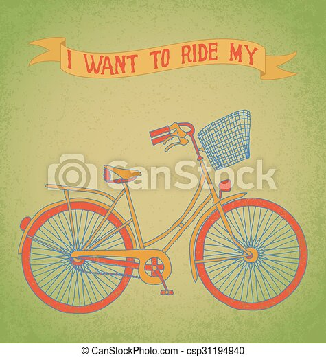 I want to ride my bicycle - csp31194940
