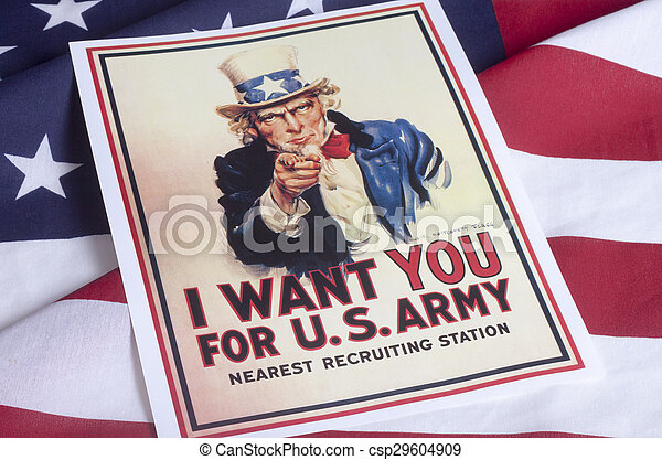 I want you - Uncle Sam - csp29604909