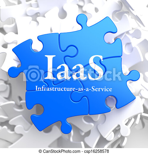 iaas., rompecabezas, tecnología, concept., información - csp16258578