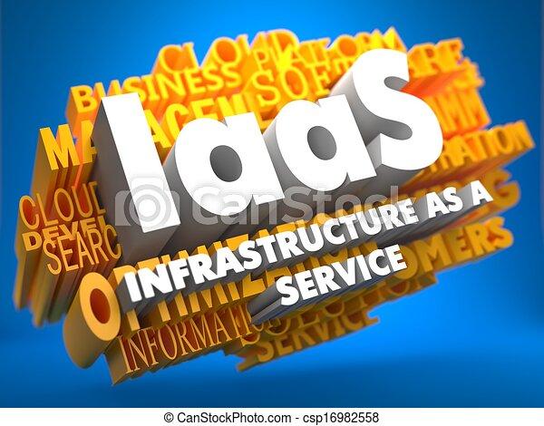 iaas., wordcloud, concept. - csp16982558