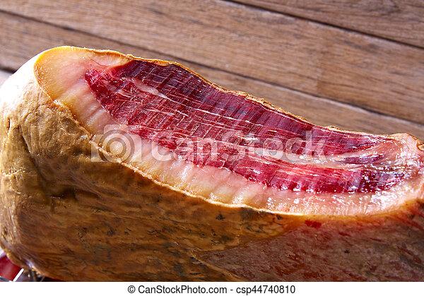 Iberian ham pata negra from Spain - csp44740810