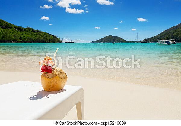 Ibisco blu conchiglia noce cocco fiore laguna cocktail