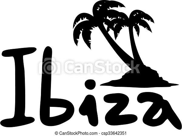 ibiza, boodschap - csp33642351