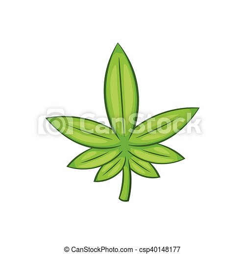 Icone Cannabis Style Feuille Dessin Anime Style Feuille Isole