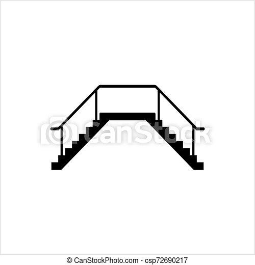 icône, conception toile, escalier - csp72690217