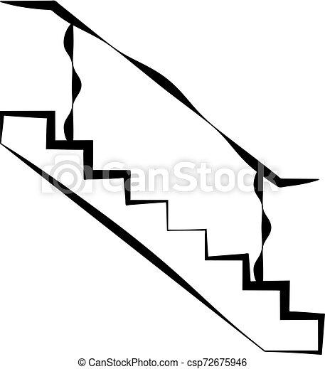 icône, conception toile, escalier - csp72675946