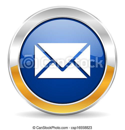 icône, courrier - csp16558823