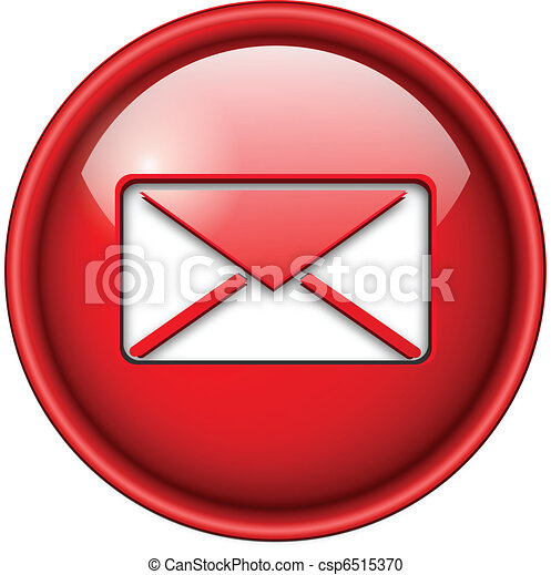 icône, email, courrier, button. - csp6515370