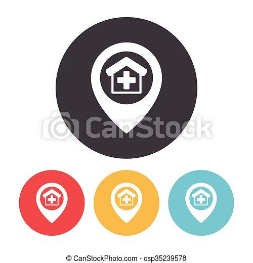 icône, emplacement - csp35239578