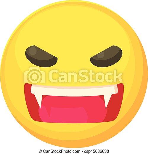 Icone Fache Smiley Style Dessin Anime Toile Fache Smiley