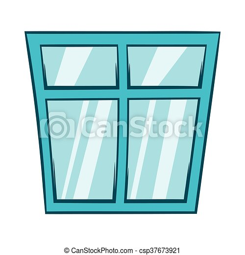 Icône Fenêtre Style Dessin Animé Style Symbole Isolé Arrière