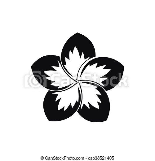 Icone Frangipanier Style Fleur Simple Style Fleur Simple