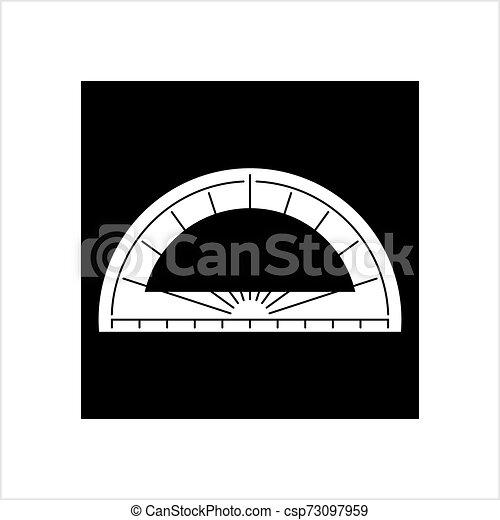 icône, géométrie, outillage, rapporteur, icône - csp73097959