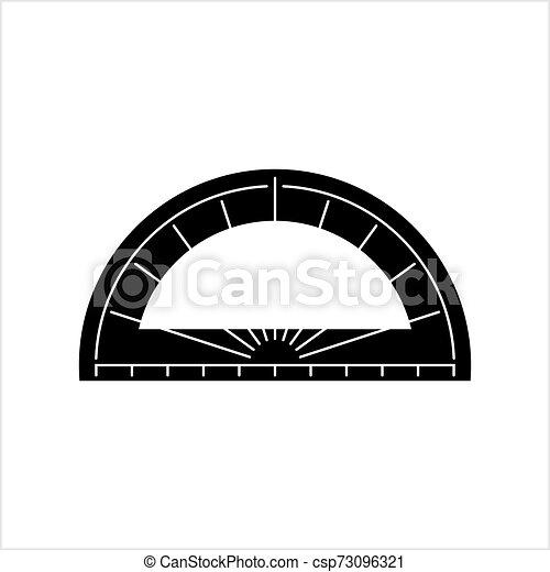 icône, géométrie, outillage, rapporteur, icône - csp73096321