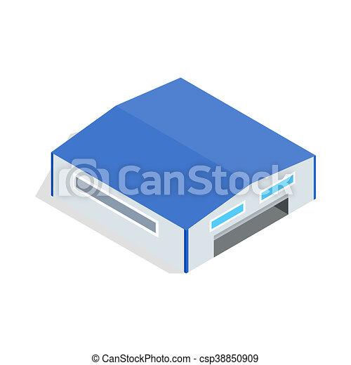 ic ne isom trique hangar style 3d style ic ne isom trique illustration isol hangar 3d. Black Bedroom Furniture Sets. Home Design Ideas