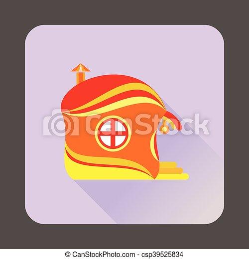 icône, maison, style, fée-conte, plat - csp39525834