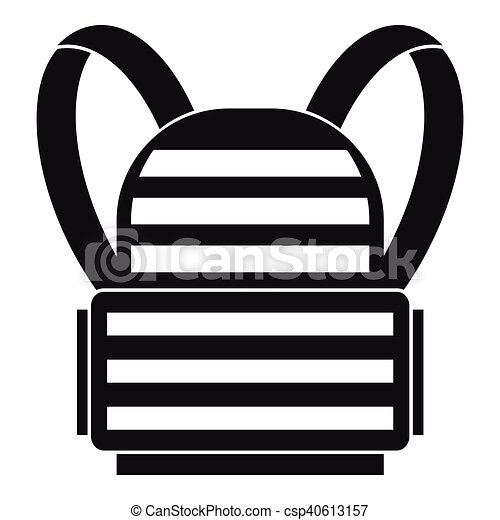 icône, militaire, sac à dos, style, simple - csp40613157